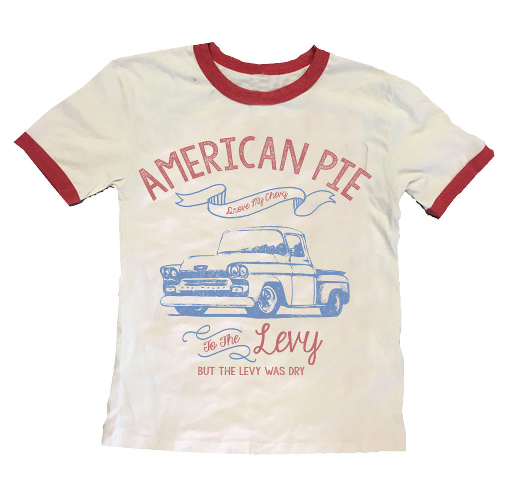 "Rowdy Sprout ""American Pie"" Ringer Tee"