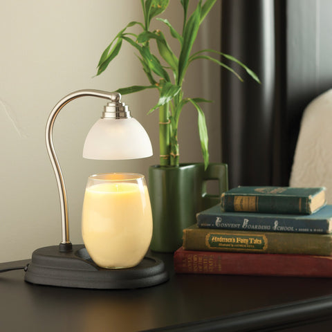Aurora Candle Warmer Lamp - Pewter