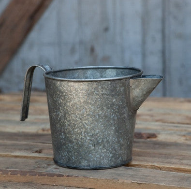 Galvanized Metal Pitcher