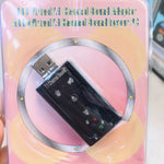 ! USB cards, sound cards សំ លេង Audio 3D Sound Virtual 7.1 Channel Card Adapte.