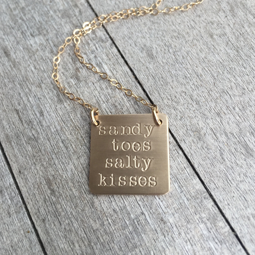 Sandy Toes and Salty Kisses Necklace