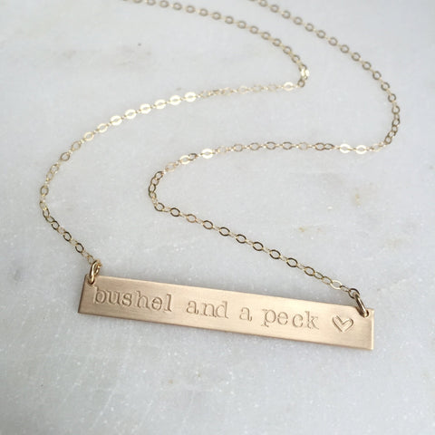 Bushel And A Peck Necklace