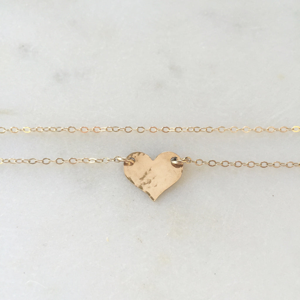 Small Gold Heart Necklace