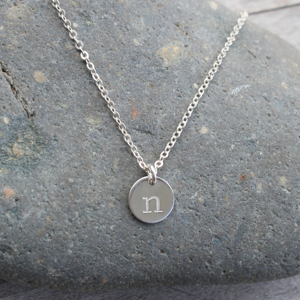 Small Disc Sterling Silver Necklace
