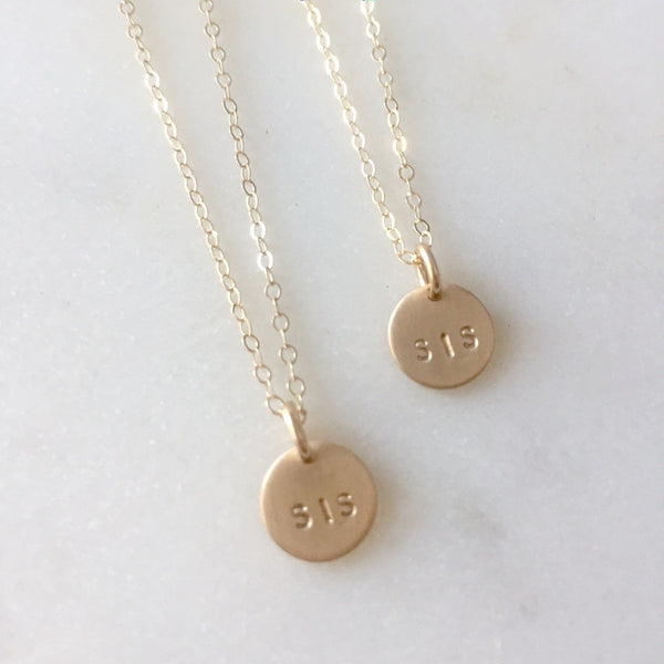 Gold Sis Necklace