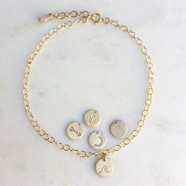 Personalized Gold Anklets