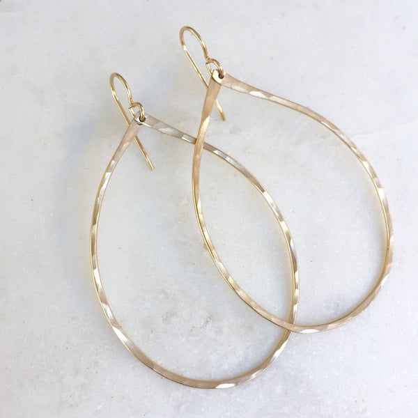 Large Organic Hoop Earrings
