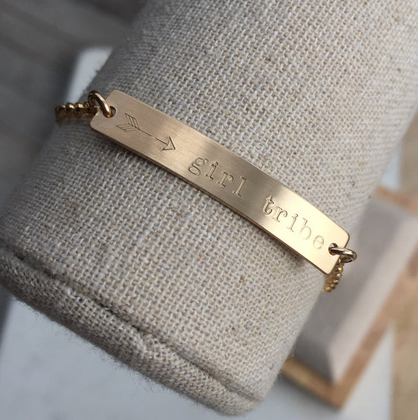 Girl Tribe Gold Bar Bracelet