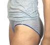 Larkspur - Ashley Silk Blend Panty - Heather Grey