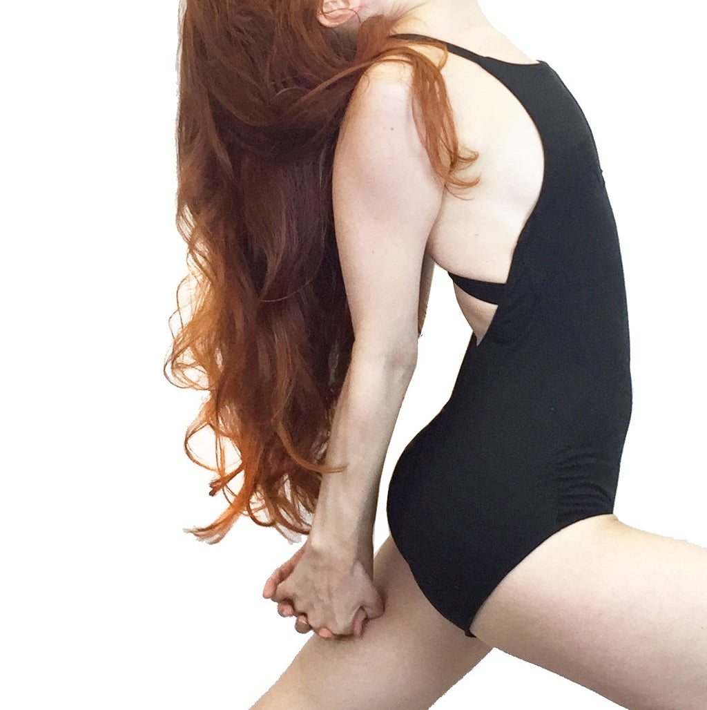 Heather - Organic Cotton Leotard - Black