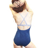Heather - Organic Cotton Leotard - Indigo/grey