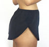Rosa - Organic Cotton Yoga Shorts - Black