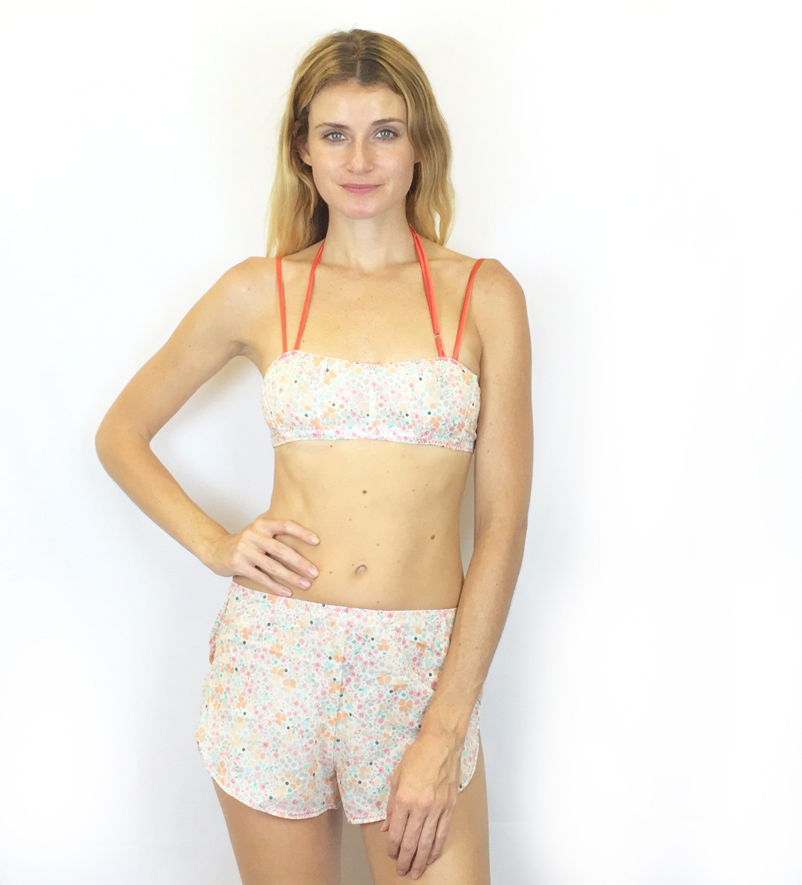 Imogene - Organic Cotton Bra and Tap Pants Set - Floral