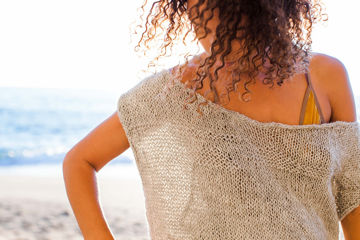 Edith - Fair Trade Alpaca Sweater - Grey