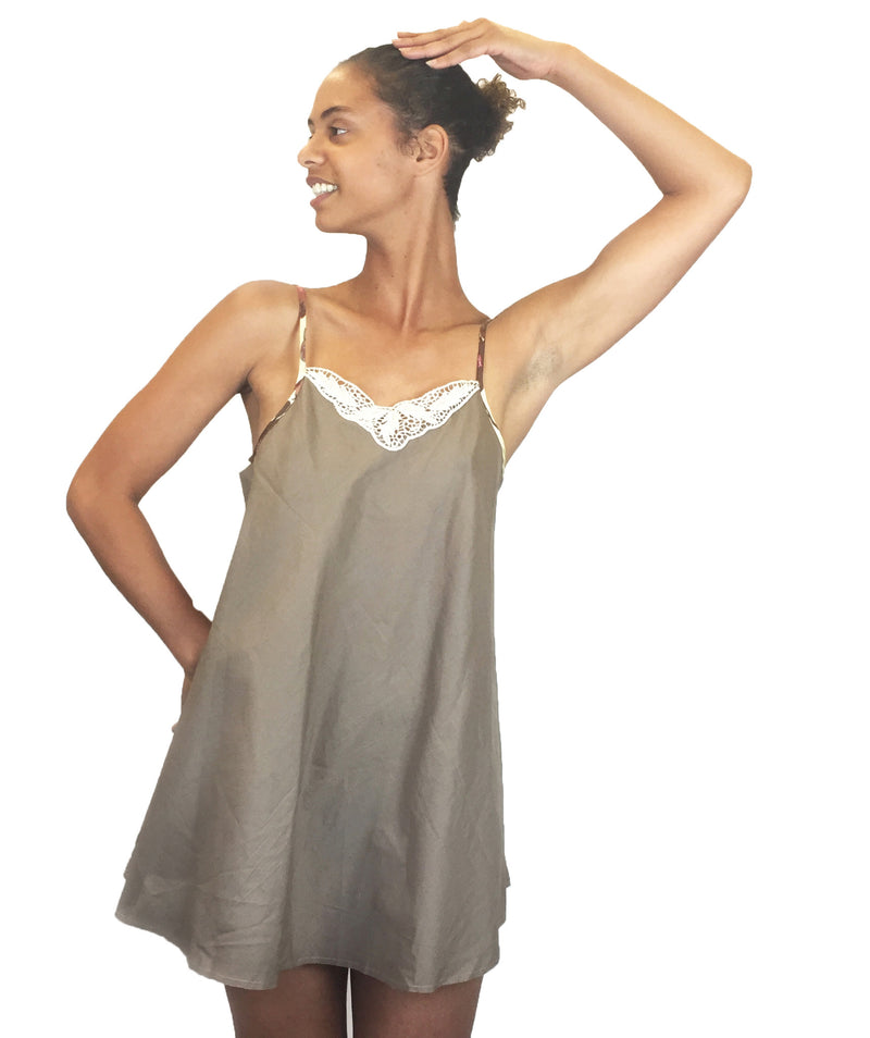 Larkspur - Marni Organic Cotton Nightgown - Toffee