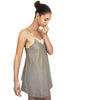 Anya - Organic Cotton Thong bodysuit - Grey/Black