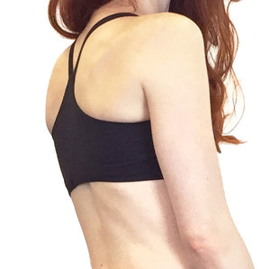 Rosa - Organic Cotton Sport Bra - Black