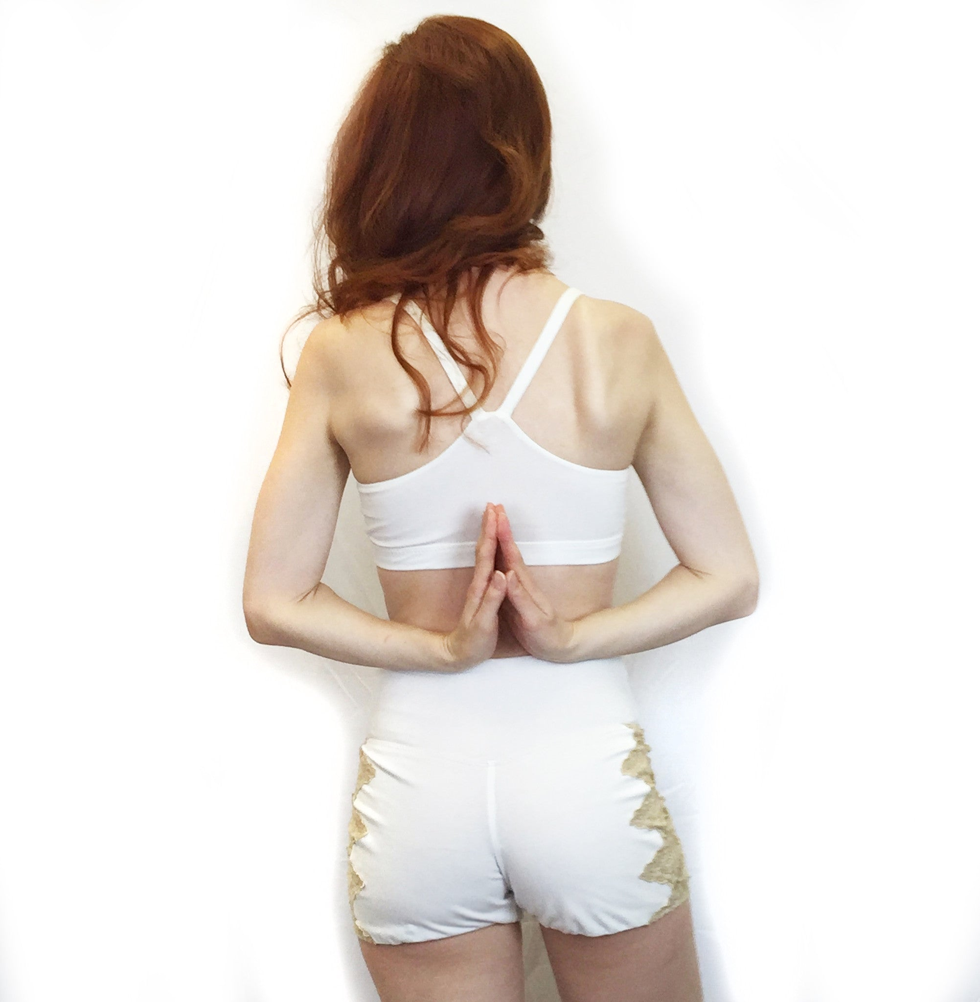 Rosa - Organic Cotton Sport Bra and Shorts Set - Ivory