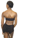 Larkspur - Zelda Organic Cotton Bandeau and Garter Slip Set - Black