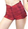 Agnes - Organic Cotton Sport Bra and Shorts Set - Scarlet Tiedye