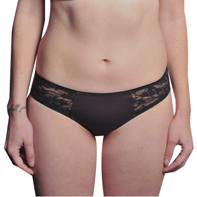 Larkspur - Hazel - Organic Cotton Bikini Panties - Black