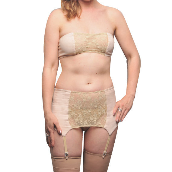 Larkspur - Zelda Organic Cotton Bandeau and Garter Slip Set