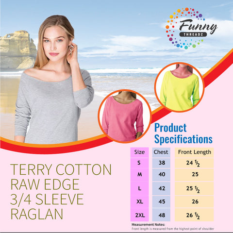 Next Level Raglan Raw Edge Shirt