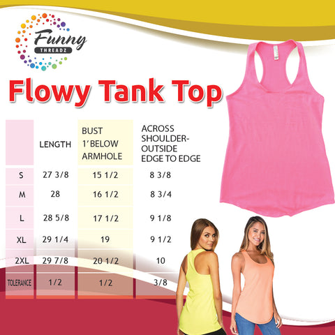 Funny Threadz Womens Flowy Tank Top Size Charts