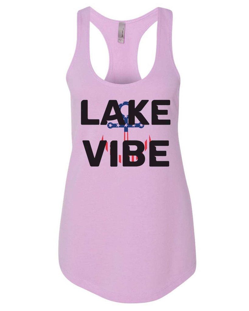 Lake Vibe Womens Workout Tank Top Funny Shirt Small / Lilac