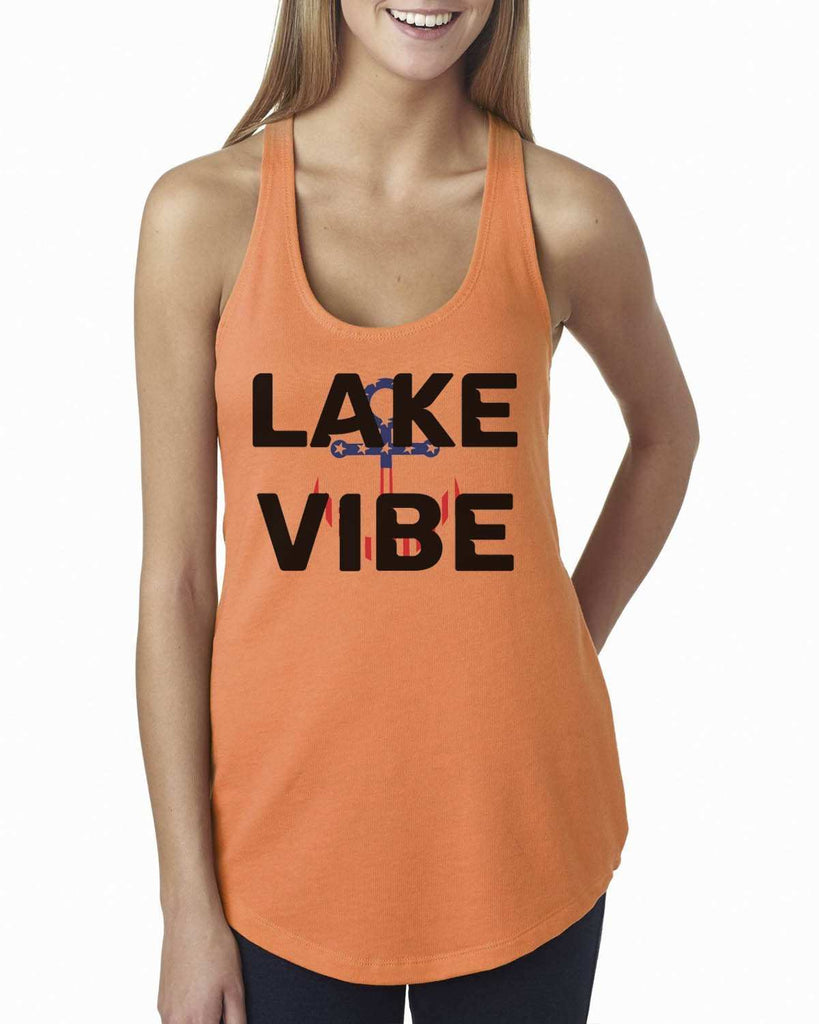 Lake Vibe Womens Workout Tank Top Funny Shirt