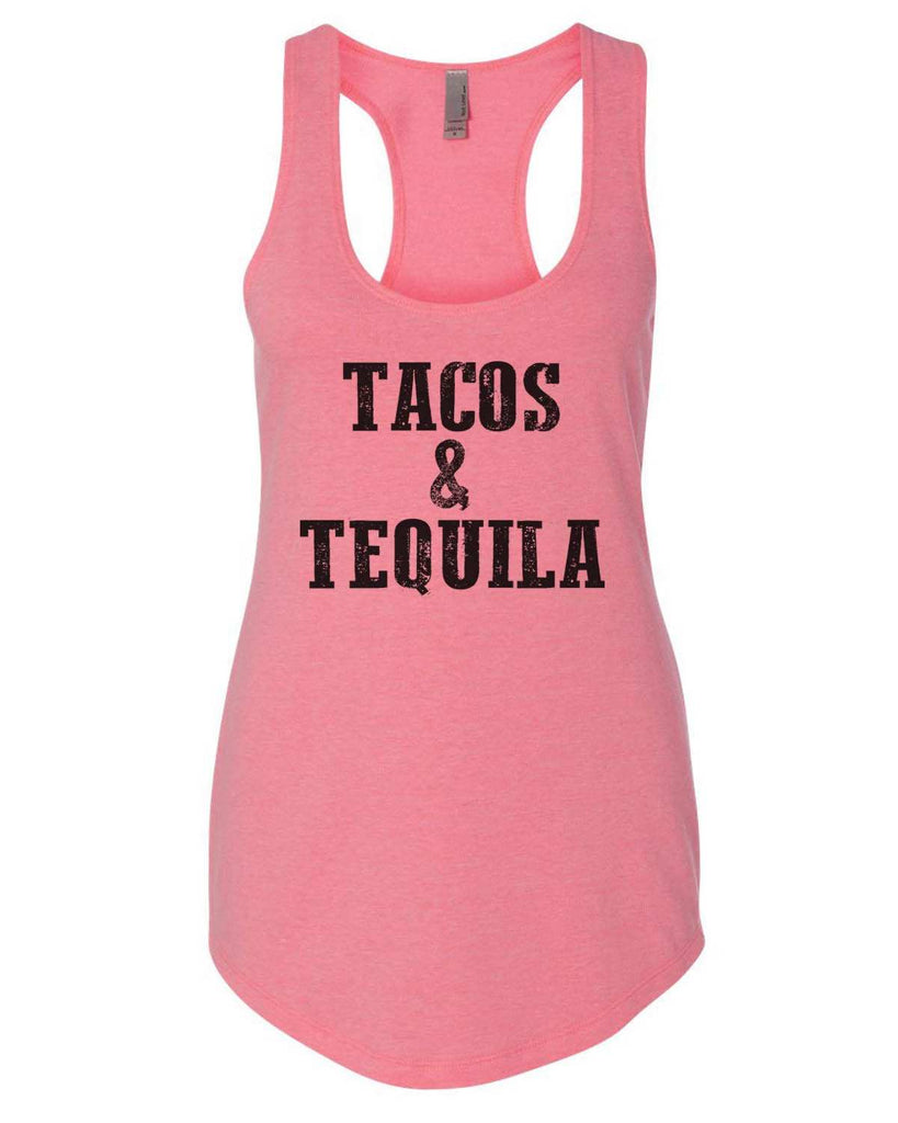 Tacos & Tequila Womens Workout Tank Top Funny Shirt Small / Heather Pink