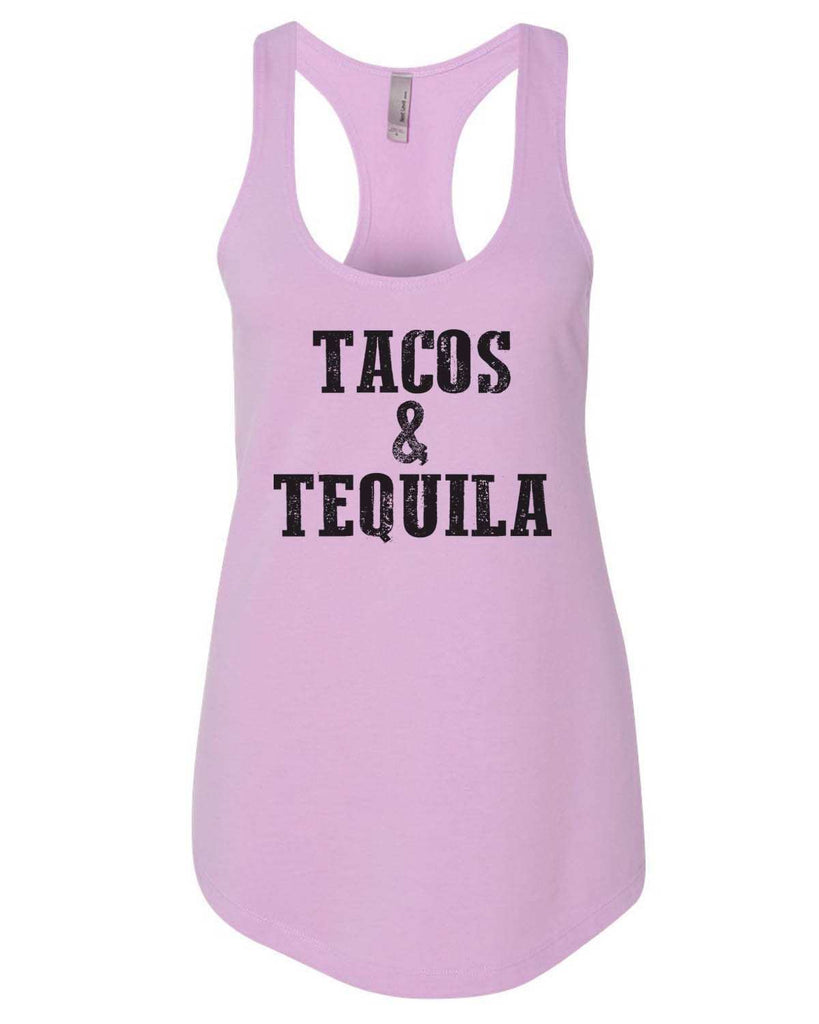 Tacos & Tequila Womens Workout Tank Top Funny Shirt Small / Lilac
