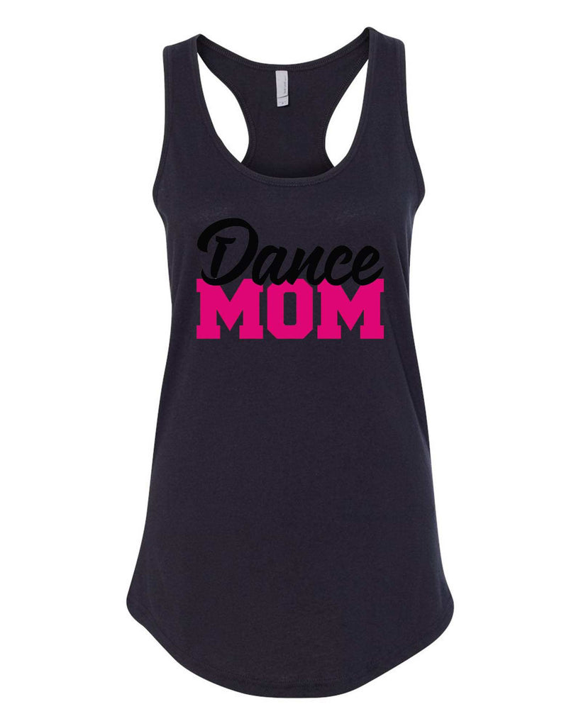 Womens Dance Mom Grapahic Design Fitted Tank Top Funny Shirt Small / Black