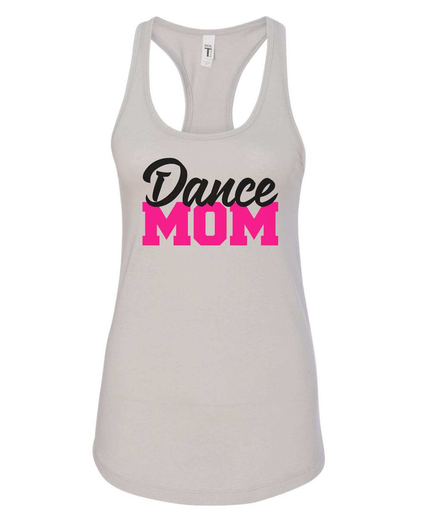 Womens Dance Mom Grapahic Design Fitted Tank Top Funny Shirt Small / Silver