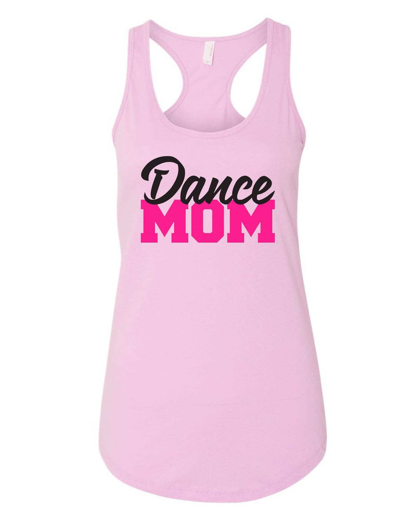 Womens Dance Mom Grapahic Design Fitted Tank Top Funny Shirt Small / Lilac