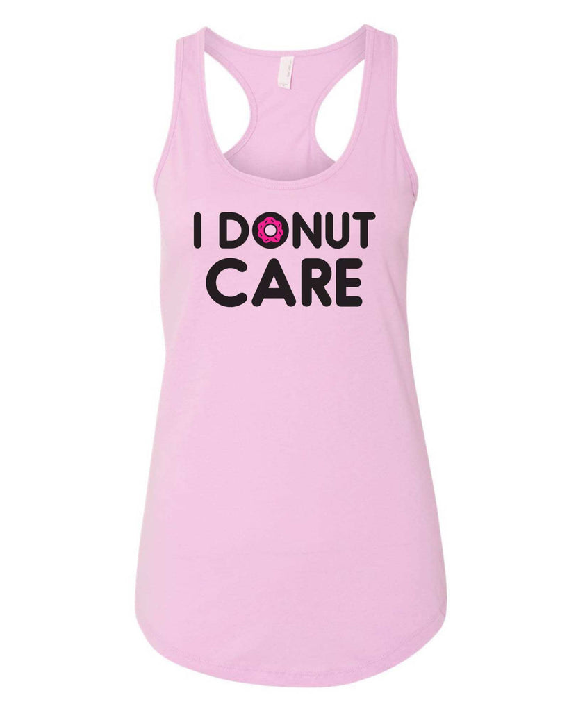 Womens I Donut Care Grapahic Design Fitted Tank Top Funny Shirt Small / Lilac