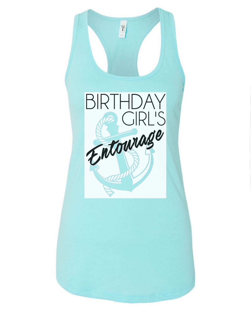 Womens Birthday Girl's Entourage Grapahic Design Fitted Tank Top Funny Shirt Small / Cancun