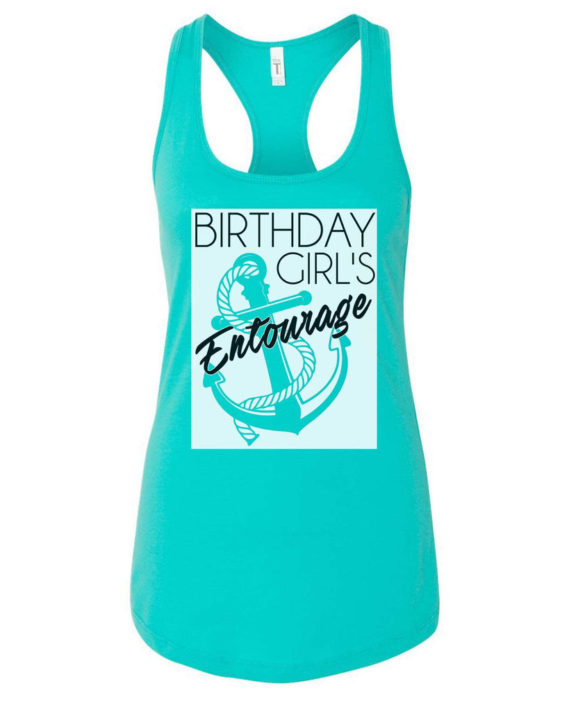 Womens Birthday Girl's Entourage Grapahic Design Fitted Tank Top Funny Shirt Small / Sky Blue