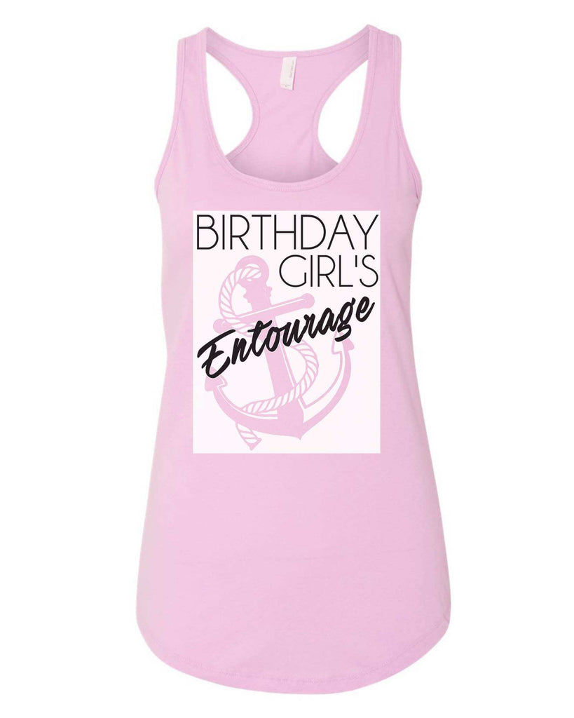 Womens Birthday Girl's Entourage Grapahic Design Fitted Tank Top Funny Shirt Small / Lilac