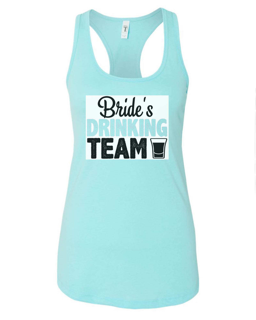 Womens Bride's Drinking Team Grapahic Design Fitted Tank Top