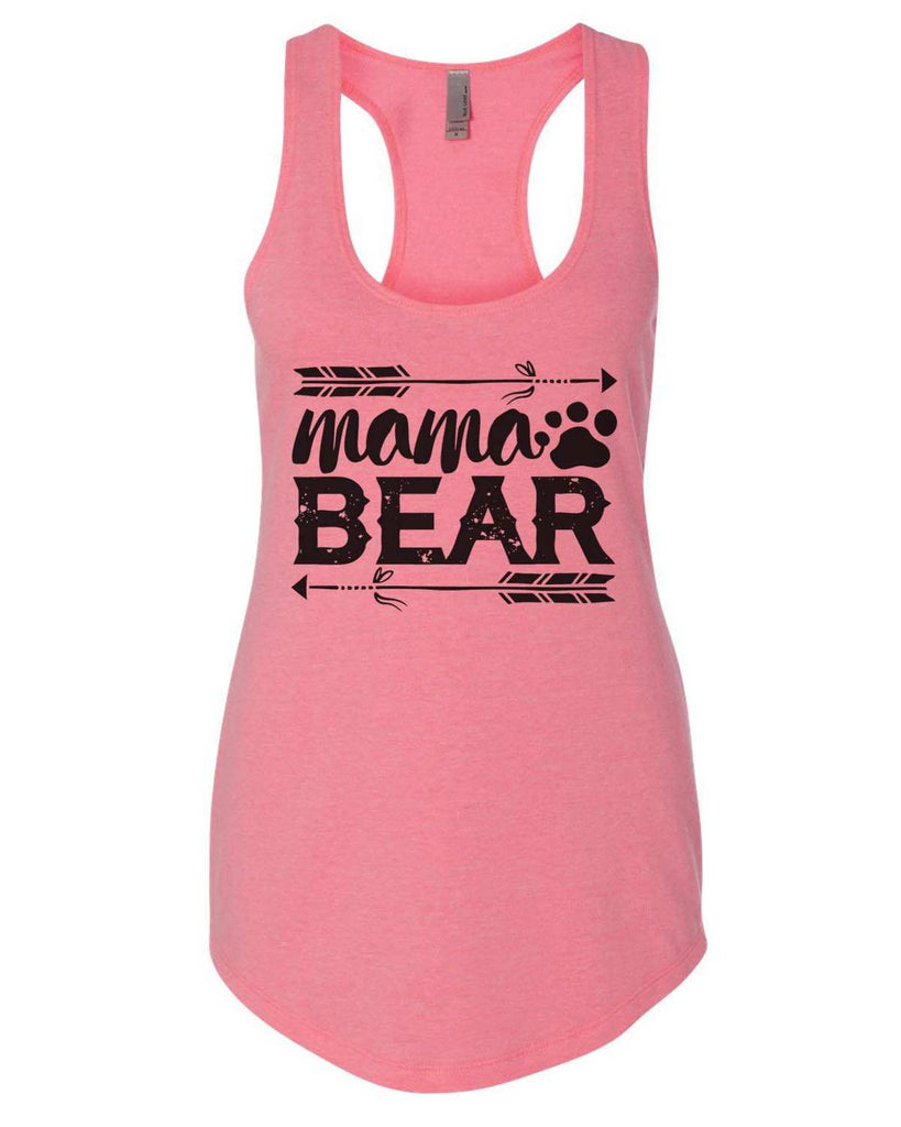 Mama Bear Womens Workout Tank Top Funny Shirt Small / Heather Pink