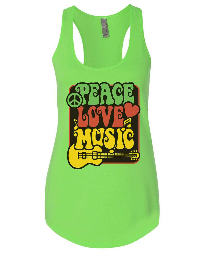 Peace Love Music Womens Workout Tank Top