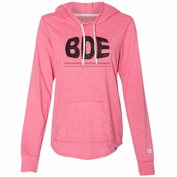 Bde Design Rule - Womens Champion Brand Hoodie - Hooded Sweatshirt Funny Shirt Small / Pink