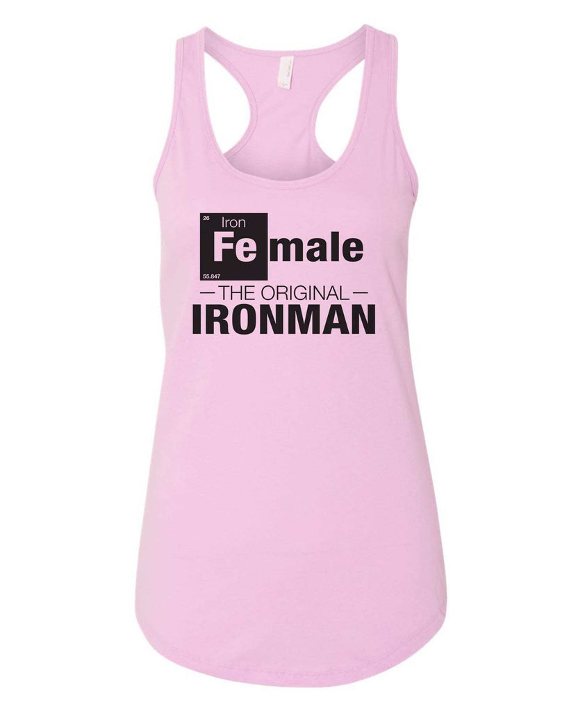 Womens Female-The original- IronMan Grapahic Design Fitted Tank Top Funny Shirt Small / Lilac