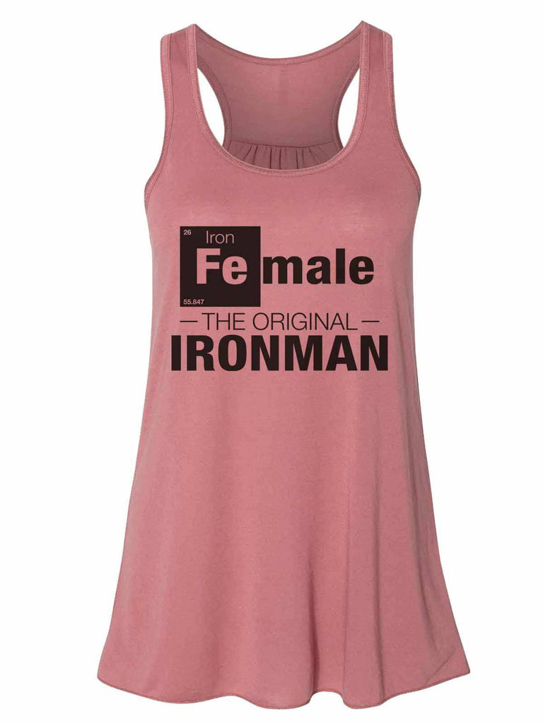 Female - The Original Ironman - Bella Canvas Womens Tank Top - Gathered Back & Super Soft Funny Shirt Small / Mauve