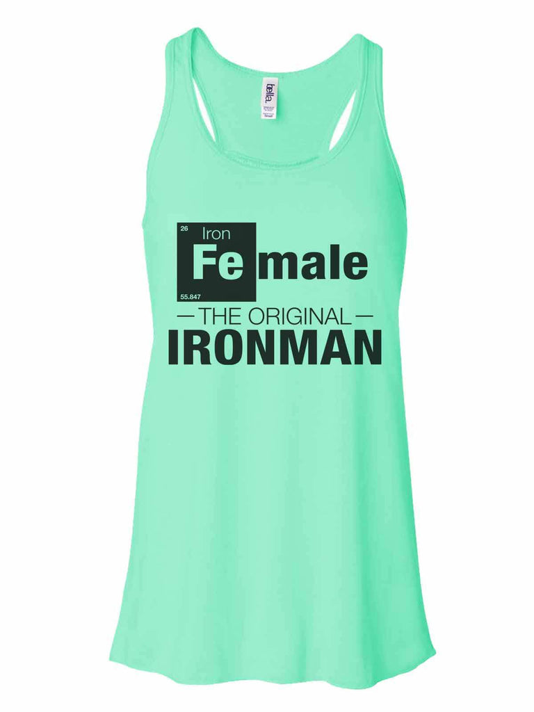 Female - The Original Ironman - Bella Canvas Womens Tank Top - Gathered Back & Super Soft Funny Shirt Small / Mint