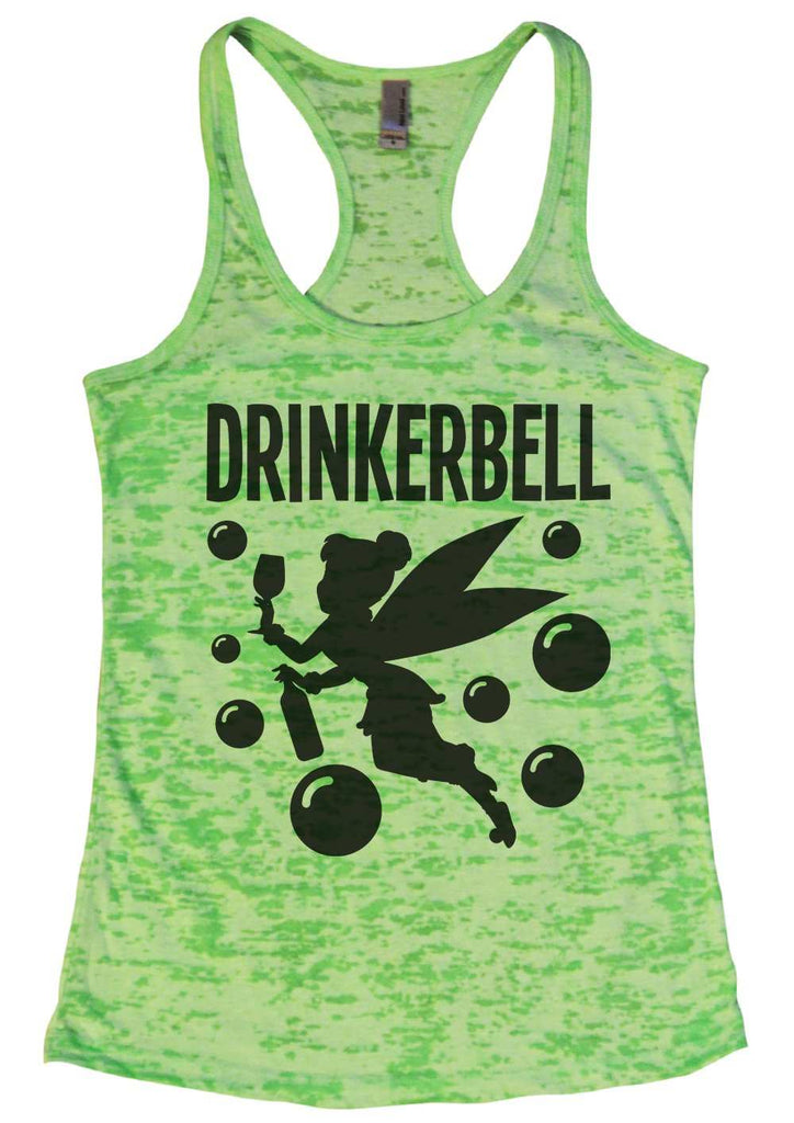 Drinkerbell Burnout Tank Top By Funny Threadz Funny Shirt Small / Neon Green