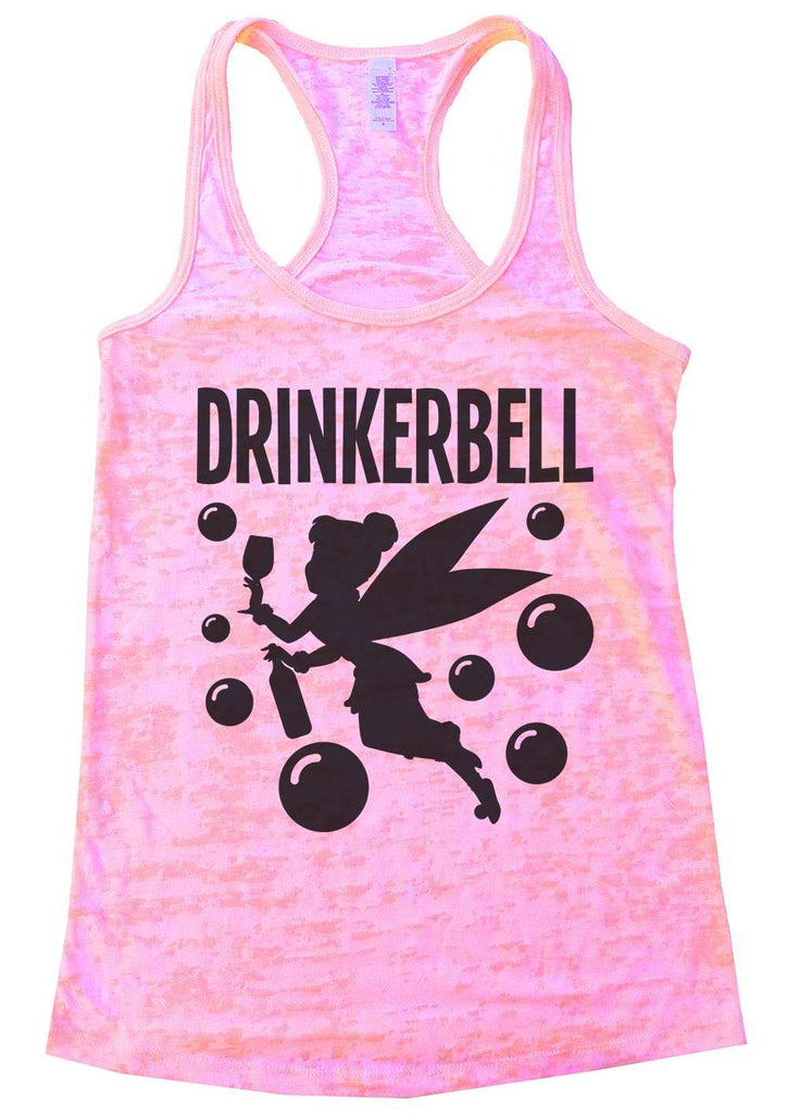 Drinkerbell Burnout Tank Top By Funny Threadz Funny Shirt Small / Light Pink