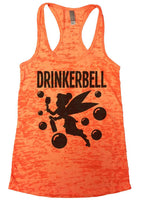 Drinkerbell Burnout Tank Top By Funny Threadz Funny Shirt Small / Neon Orange