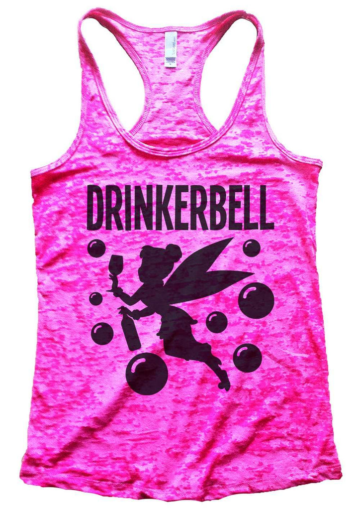 Drinkerbell Burnout Tank Top By Funny Threadz Funny Shirt Small / Shocking Pink